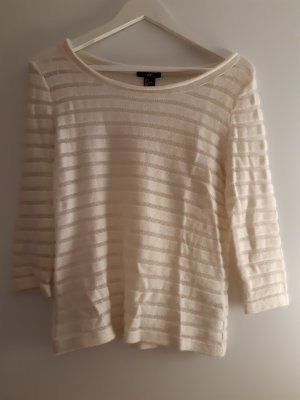 H&M Crochet Sweater natural white