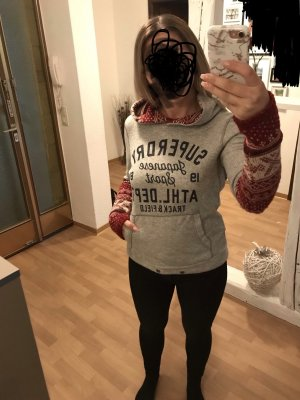 Superdry Capuchon sweater zilver-lichtgrijs