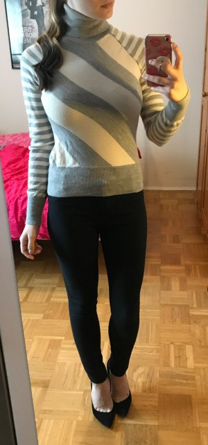 Pullover Banana Republic Gr. S 36 Merino Wolle Wollpullover pulli grau weiß