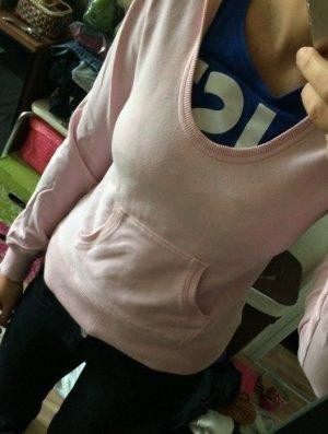 Pullover Basic H&M rosa mit Kapuze Divided only Größe S