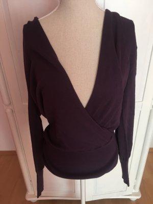 Pullover Baumwollbluse mit großem Ausschnitt