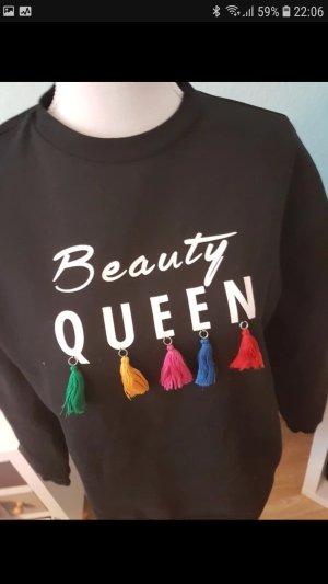 pullover Beauty Queen mit bunten quasten