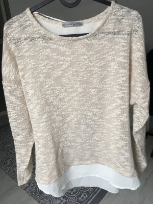 Pullover beige Glitzer