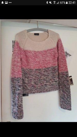 Pullover blau beige rosa