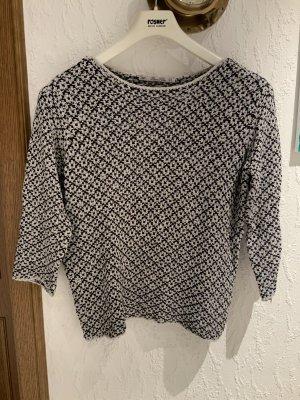 Pullover blau/ weiß, Größe M