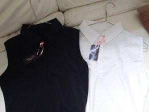 Blusa bianco-nero Cotone