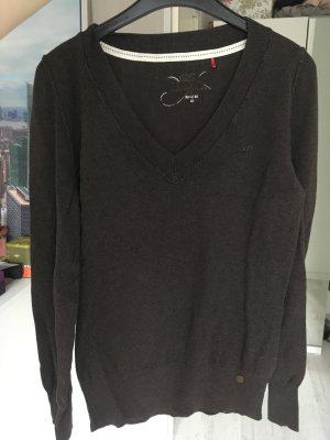 Pullover braun V-Ausschnitt