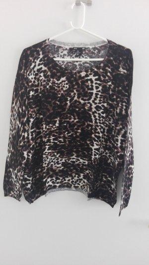 Pullover brauner Leoprint