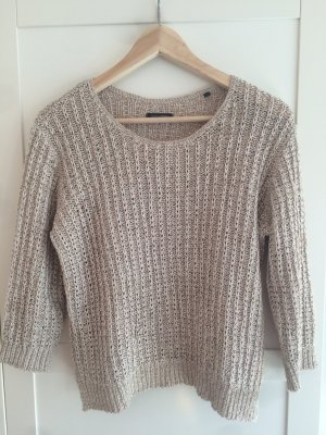 Pullover Bündchenstrick M Marc O'Polo beige
