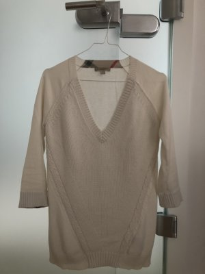 Burberry Brit V-Neck Sweater natural white