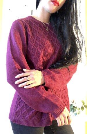 Maglione lungo viola