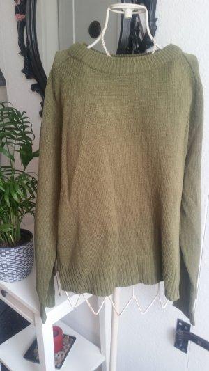 H&M Sweater olijfgroen-khaki