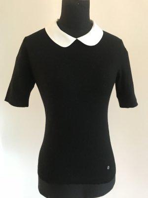 Rena Lange Jersey de lana negro-blanco lana de esquila
