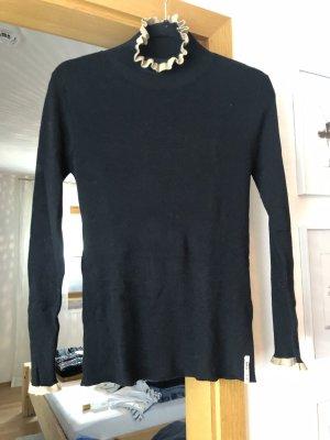 Rue de Femme Turtleneck Sweater black-gold orange