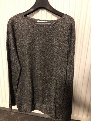 Canda Kraagloze sweater zilver