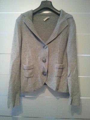 Pullover / Cardigan von Public, Kaschmir, Größe 38, grau