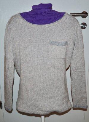Pullover Cashmere Kaschmir Damen beige grau Hot soup green tea S 36