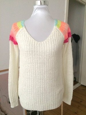 Pullover, cremeweiss, V-Ausschnitt