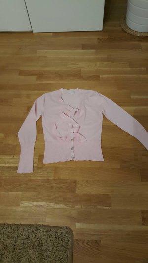 Pullover der Marke Oui mit Knöpfen und Schleife in rosa
