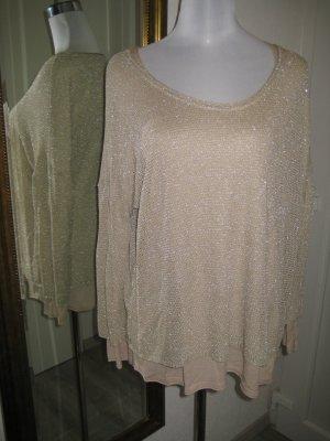 Pullover Doppel 2 in 1 Beige Gold Gr. L/XL