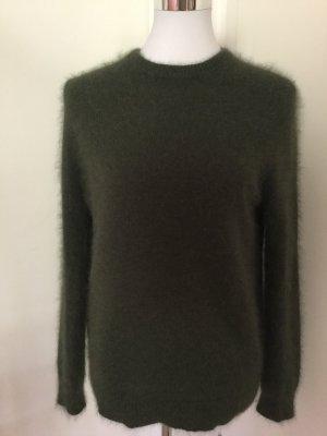 American Vintage Maglione girocollo verde scuro Lana d'angora