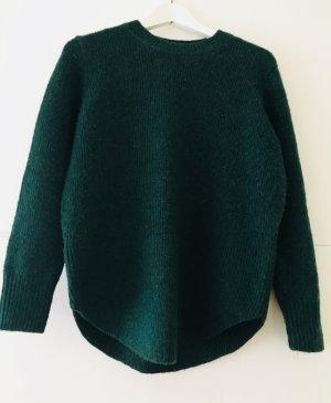 Pullover dunkelgrün aus Alpaka Wolle