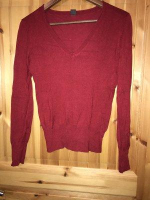 Pullover dunkelrot v-ausschnitt 36 selection by s Oliver