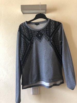 Amisu Kraagloze sweater veelkleurig
