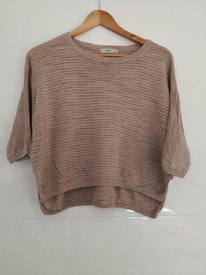 Mango Short Sleeve Sweater dusky pink-pink