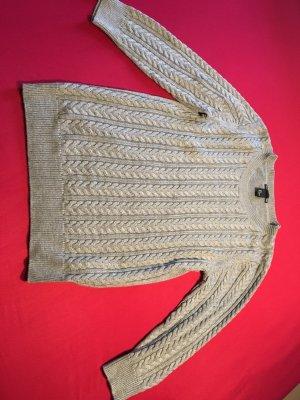 HM Jersey de lana gris claro-color plata