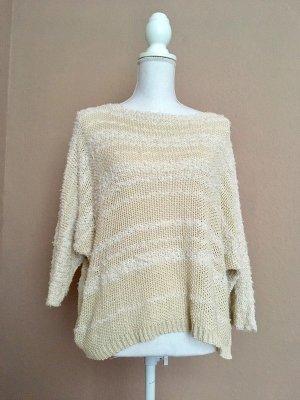 Maglione lavorato a maglia beige chiaro