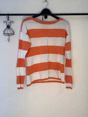 edc by Esprit Lange jumper wit-oranje