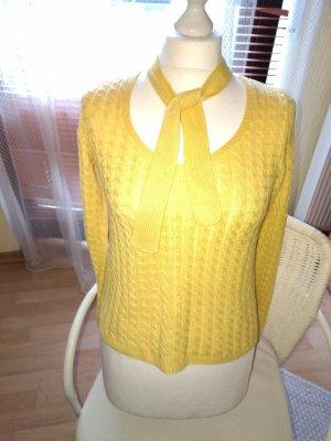 Pullover Einzelstück - selbstgehäkelt in Sonnengelb