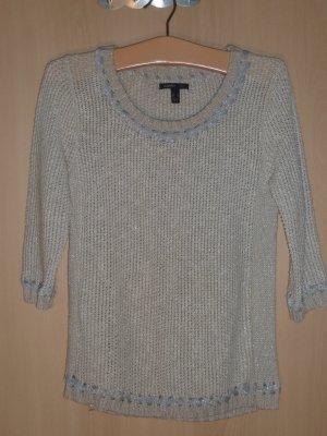 Mango Knitted Sweater oatmeal textile fiber