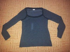 Pullover Esprit schwarz dunkelgrau Streifen Gr. M