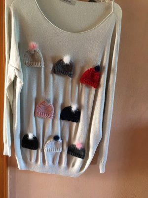100% Fashion Christmasjumper natural white