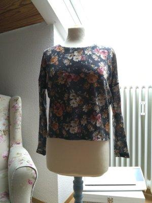 Pullover Feinstrick floral Vintage Blumen Rosen