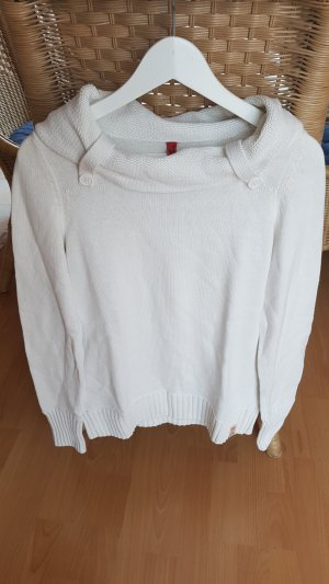 QS by s.Oliver Sweater wolwit Gemengd weefsel