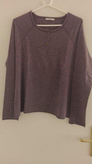 edc Wollen trui grijs-lila Gemengd weefsel