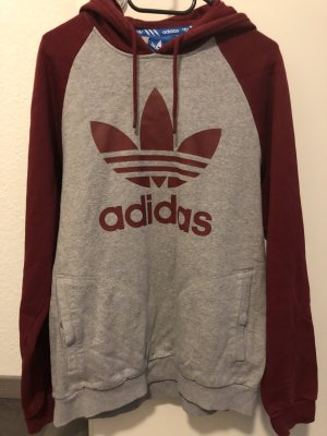 Adidas Hooded Sweater grey-red