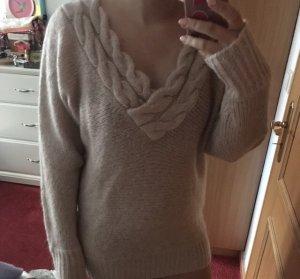 Pullover geflochten lang