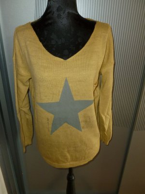 Pullover gelb Stern Made in Italy