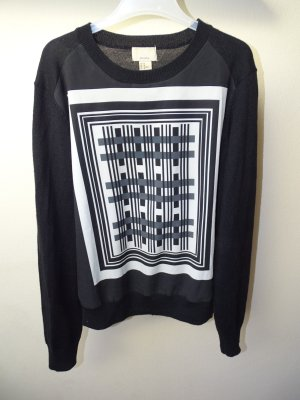 Pullover Geometrisch schwarz|weiß|grau Gr. 40 H&M (NP: 25€)