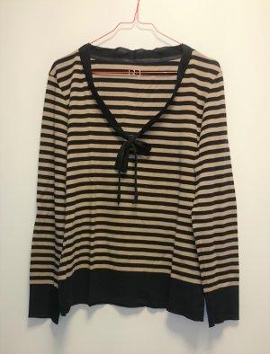 Pullover gesteift schwarz beige mit Schleife von 1-2-3 Gr. 42