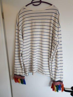 Pullover/ gestreifter Pullover/ Fransenpullover