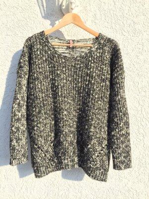 Pullover Glitzer Cozy Chic Größe S/M neuw. Black/White/Gold