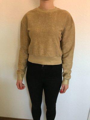 Pullover gold mit Schimmer