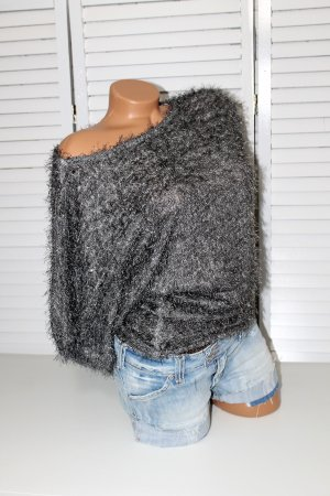 0039 Italy Knitted Sweater grey polyacrylic