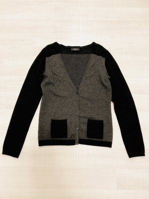 Gina V-Neck Sweater grey-black