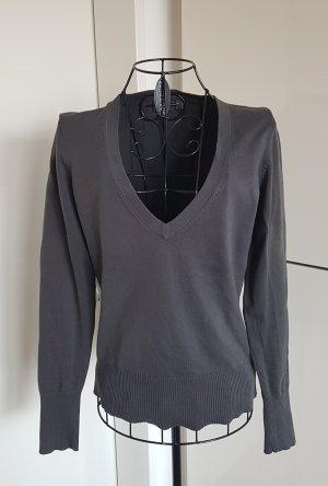 Mexx Jersey con cuello de pico gris-gris oscuro